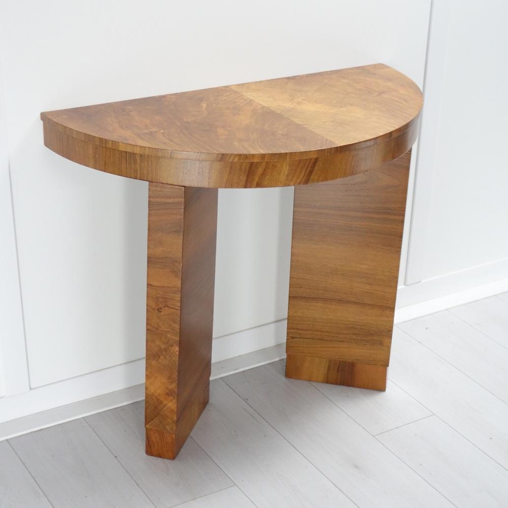 Art-Deco-walnut-table-console