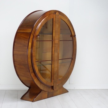 Art Deco Round Display Cabinet circa 1930