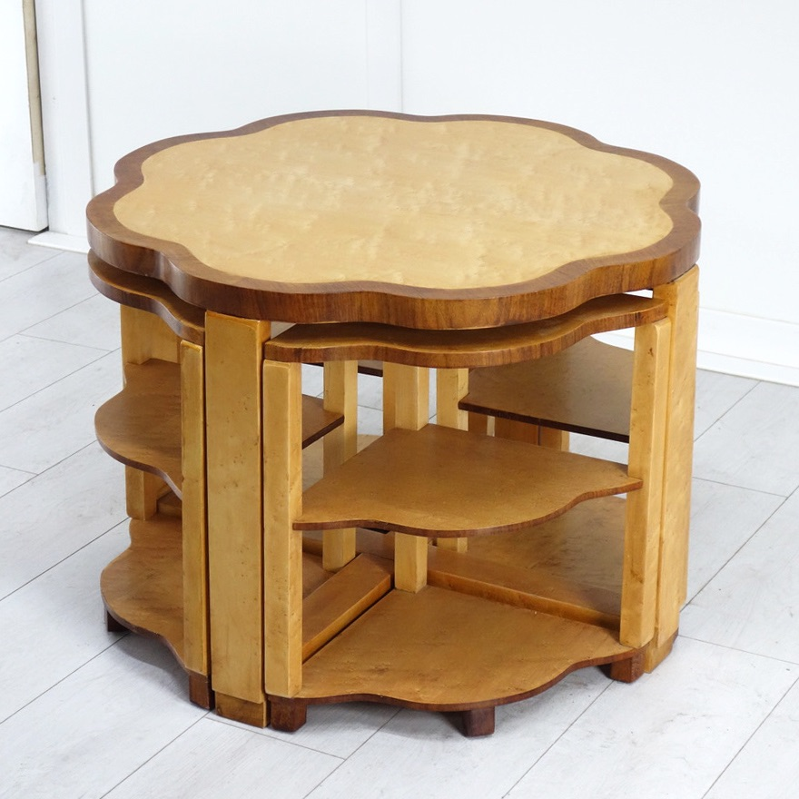 Art Deco Nest of Five Tables by The Epstein Brothers.