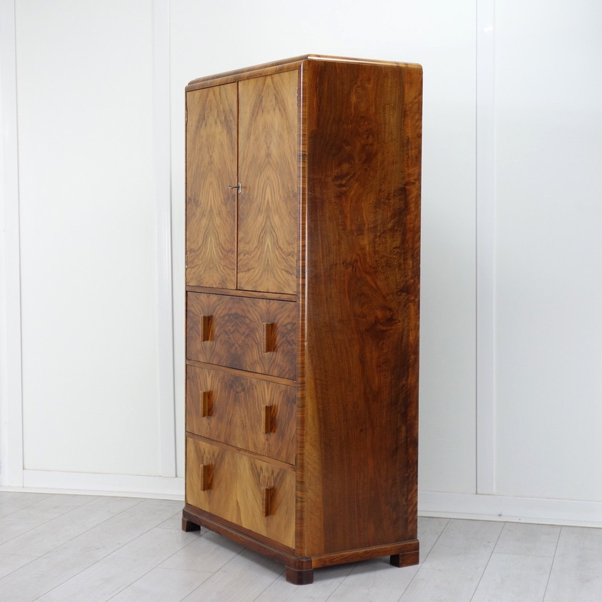 Art-Deco-Tallboy-Walnut-1