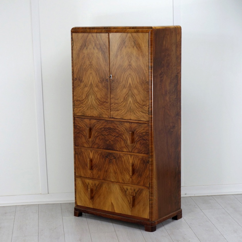 Art deco Tallboy Chest of Draws 1930's.