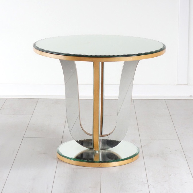 Art Deco  Mirrored Glass Side Table 1930's.