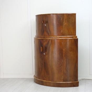 Art Deco Demi lune Cocktail  Cabinet 1930's