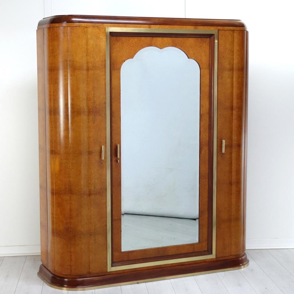 Art Deco Wardrobe Amboyna French 1930's