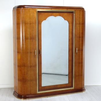 Art Deco Wardrobe in Amboyna French 1930's. Reserved.