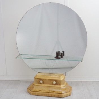 Art Deco Dressing Table in Satin Birch circa 1930.RESERVED.