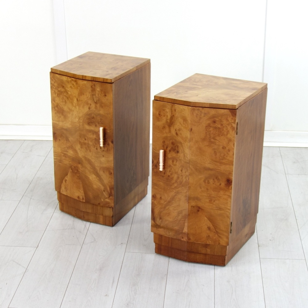 Pair of Art Deco Bedside Cabinets c1930