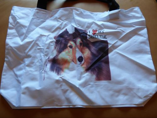 Sheltie Cotton Tote Bag #1