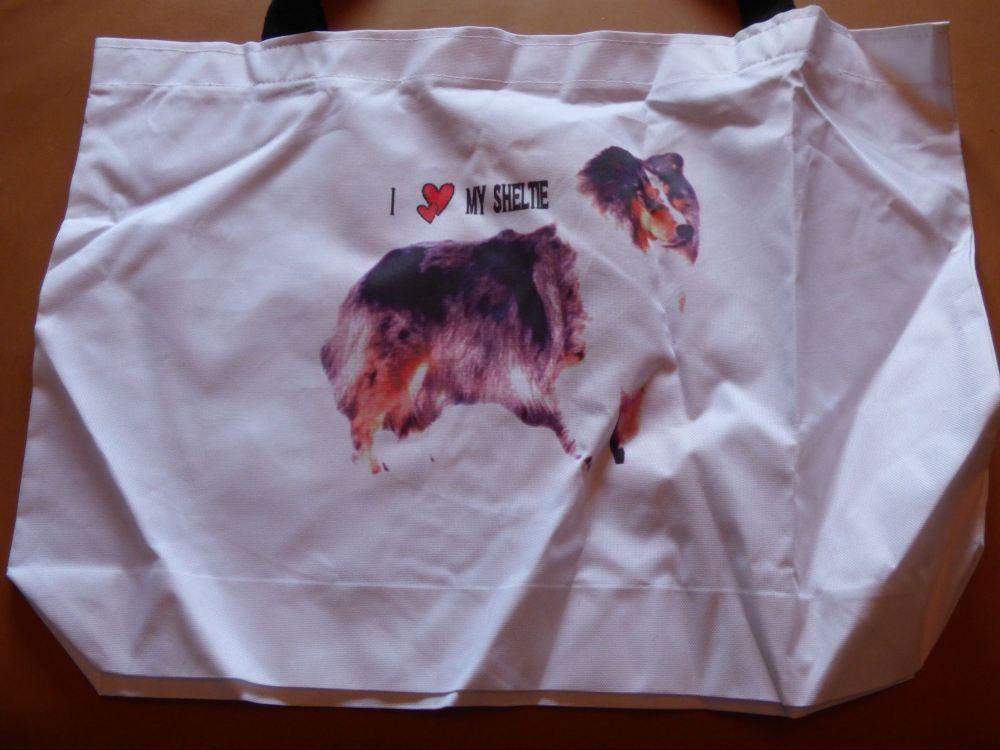 Sheltie Cotton Tote Bag #2