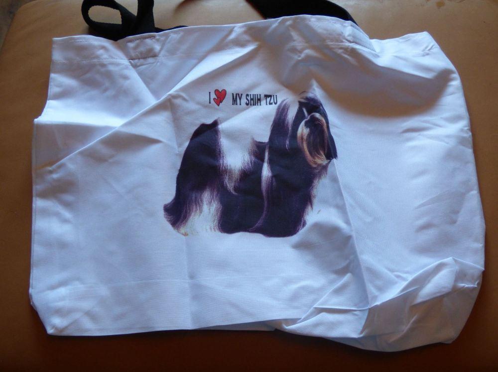 Shih Tzu Cotton Tote Bag