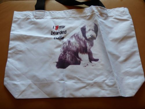 Bearded Collie Cotton Tote Bag