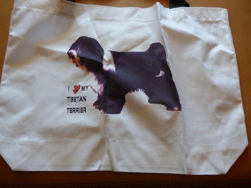 Tibetan Terrier Cotton Tote Bag