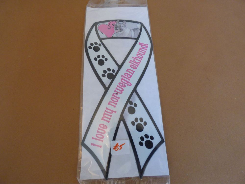 Norwegian Elkhound - Magnetic Carboot Ribbon