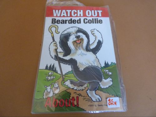 Comical Bearded Collie - Flexible Sign