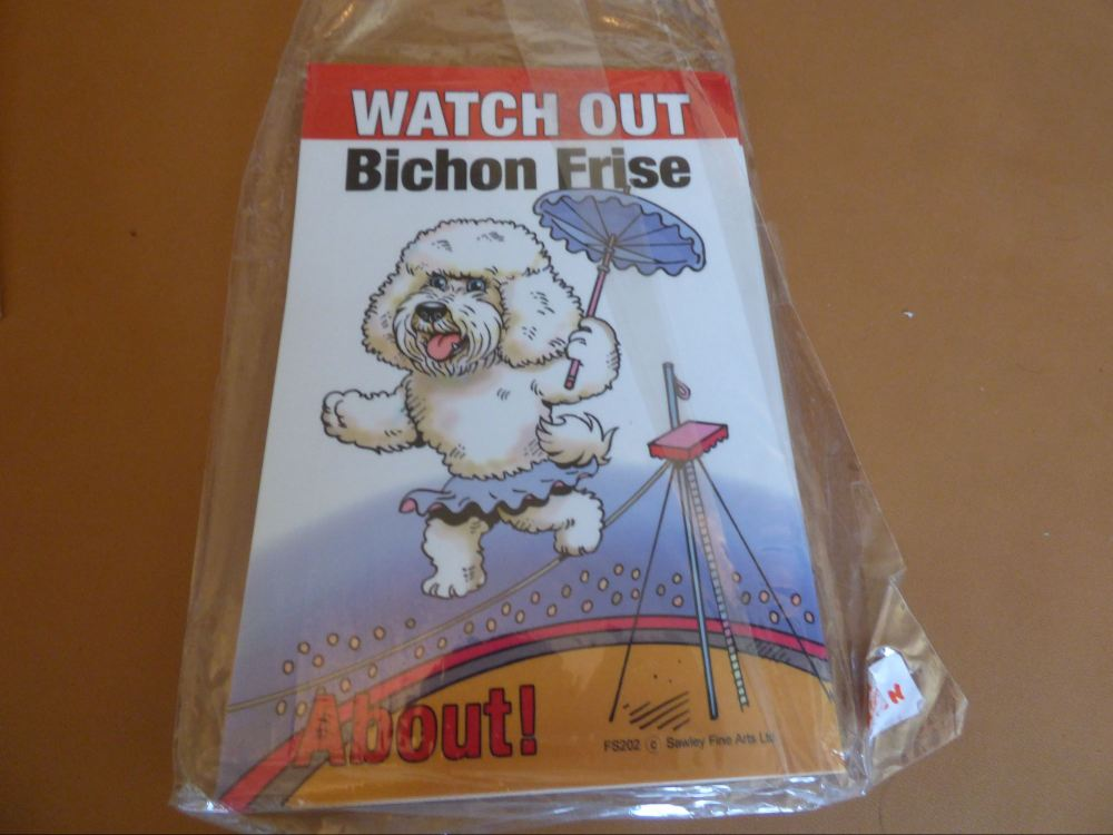 Comical Bichon Frise - Flexible Sign