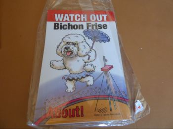 Comical Bichon Frise - Flexible Sign