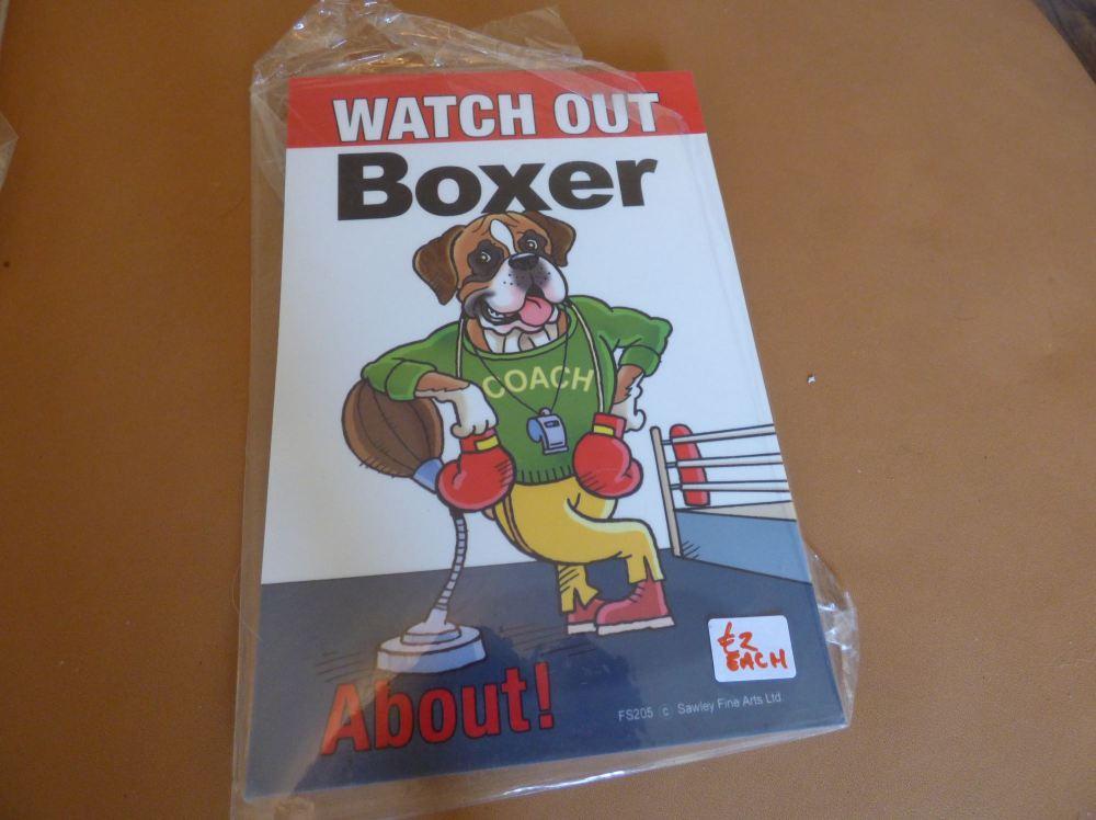 Comical Boxer - Flexible Sign