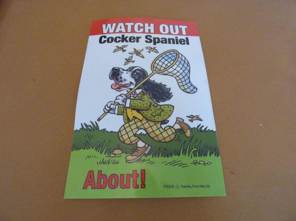 Comical Cocker Spaniel - Flexible Sign