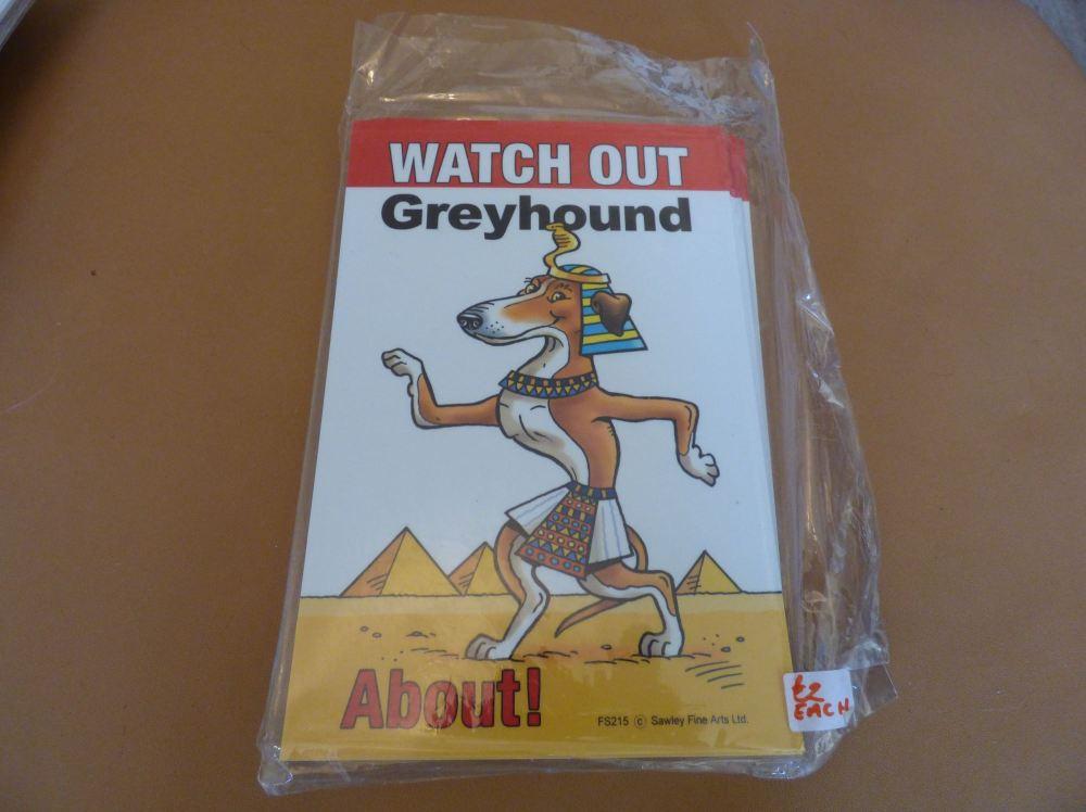 Comical Greyhound - Flexible Sign