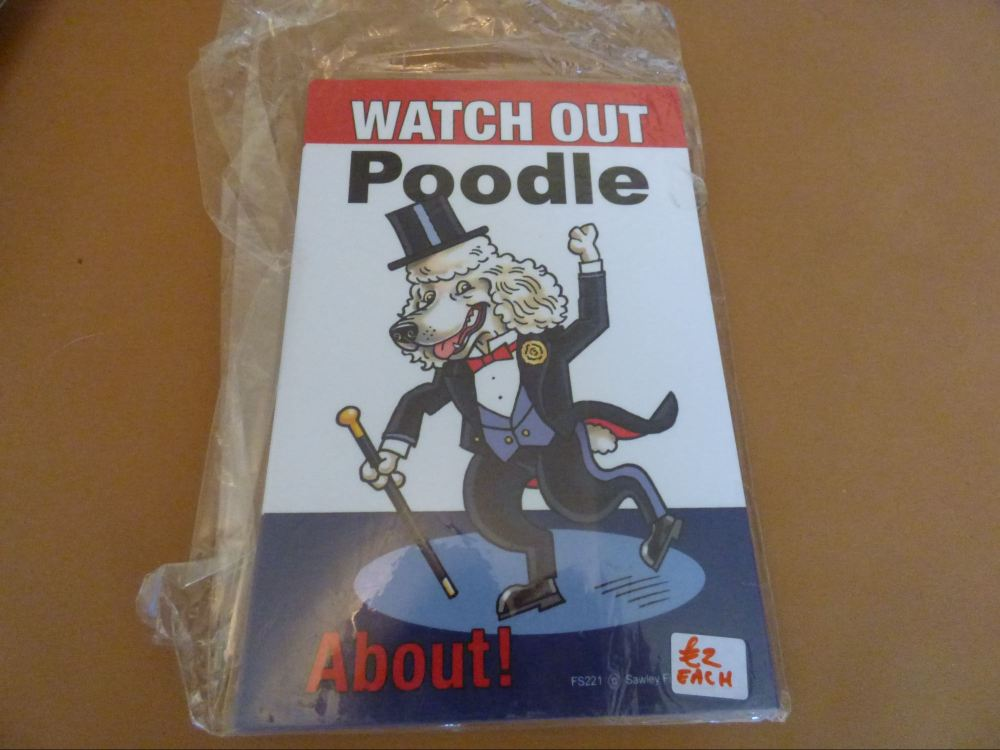 Comical White Poodle - Flexible Sign
