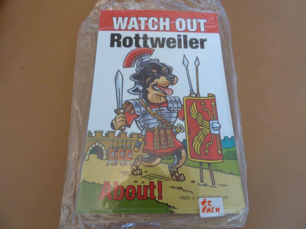 Comical Rottweiler - Flexible Sign