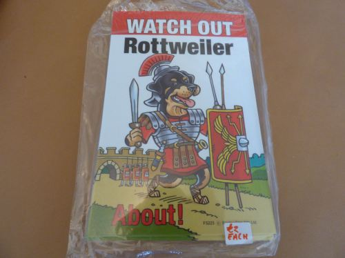Comical Rottweiler - Flexible Sign