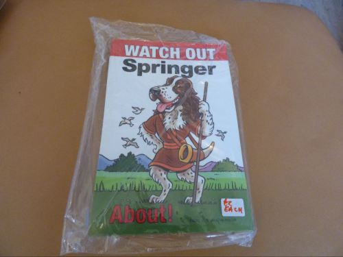 Comical Springer Spaniel - Flexible Sign