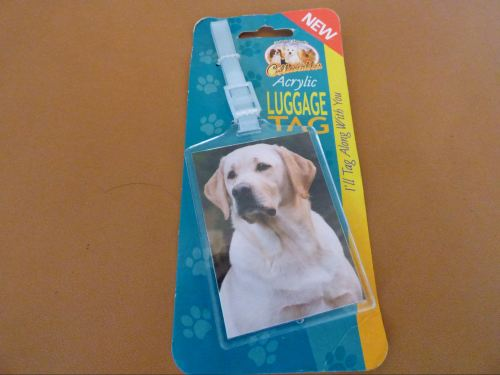 Yellow Labrador - Acrylic Luggage Tag