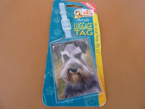 Schnauzer - Acrylic Luggage Tag