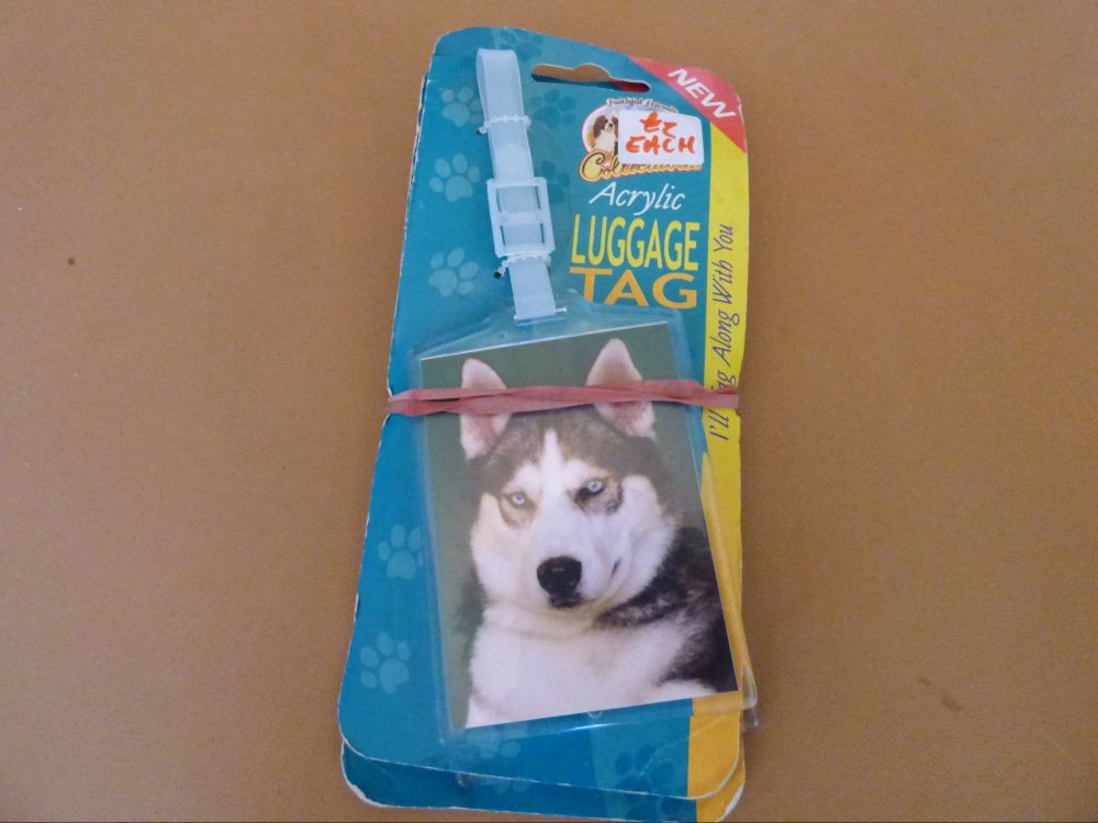 Husky - Acrylic Luggage Tag
