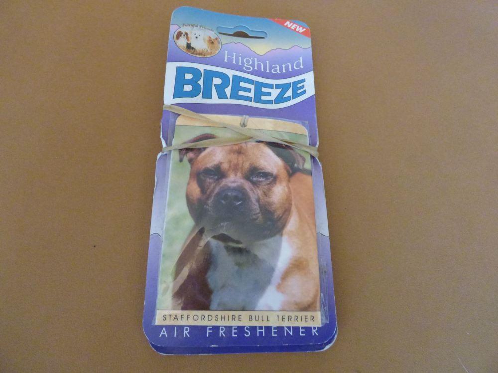 Red Staffordshire Bull Terrier - Air Freshener