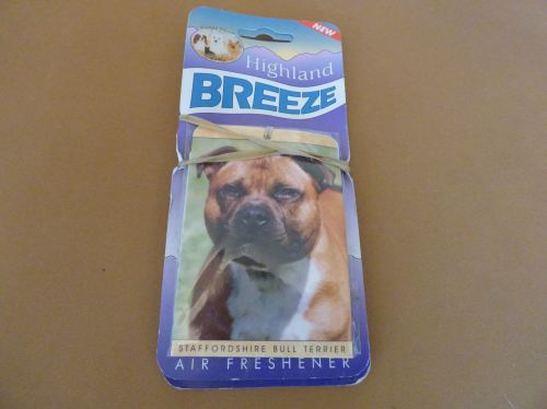 Red Staffordshire Bull Terrier - Air Freshener