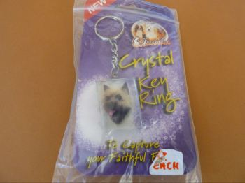 Z Cairn Terrier - Crystal Keyring