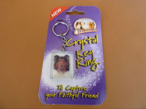 Rough Collie - Crystal Keyring