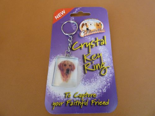Golden Retriever - Crystal Keyring