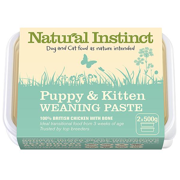 Natural Instinct Puppy & Kitten Weaning Paste 2 x 500g