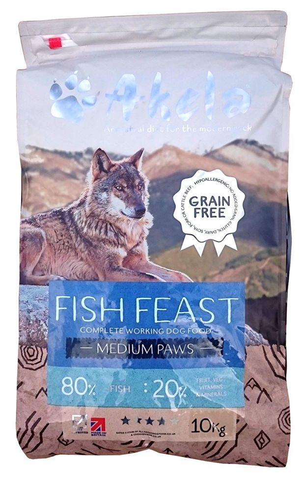 Akela 80:20 Fish Feast Grain Free - 10kg - Small Paws