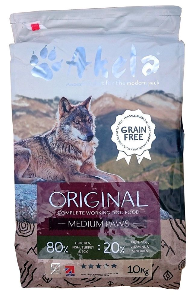 Akela 80:20 Orignal Grain Free - 10kg - Medium Paws