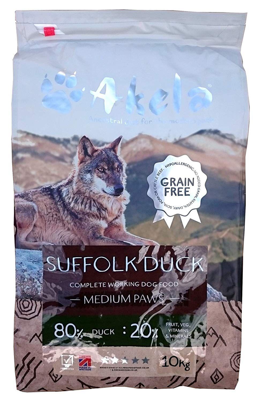 Akela 80:20 Suffolk Duck Grain Free 10kg - Small Paws