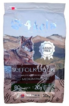 Akela 80:20 Suffolk Duck Grain Free 10kg Medium Paws