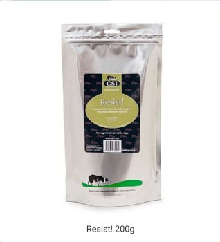 CLEARANCE - CSJK9 - Resist! 200g  ***Supporting the Immune System***  Best Before November 2020