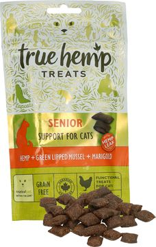 True Hemp Senior Cat Treats 50g