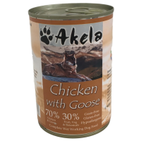 Akela Grain-Free Complete Wet Working Dog Food Chicken with Goose 400g Tin