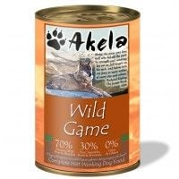 Akela Grain-Free Complete Wet Working Dog Food Wild Game 400g Tin