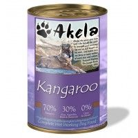 Akela Grain-Free Complete Wet Working Dog Food 70% Kangaroo 400g Tin