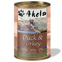 Akela Grain-Free Complete Wet Working Dog Food Duck & Turkey 400g Tin