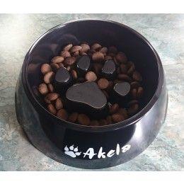 Akela Anti-Wolfin' Slow-Feed Dog Bowl - Large