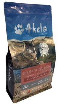 Akela 80:20 Puppy/Scottish Salmon - 1.5kg Medium Paws