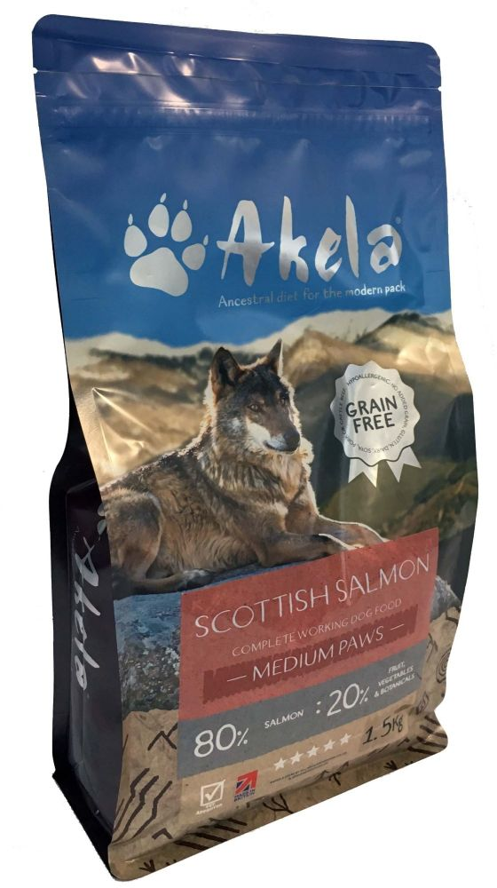 Akela 80:20 Puppy/Scottish Salmon - 1.5kg Medium Paws