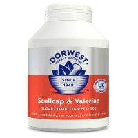 Scullcap & Valerian Tablets For Dogs And Cats for Anxiety and Behaviour - 500